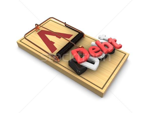 Stock photo: Debt trap