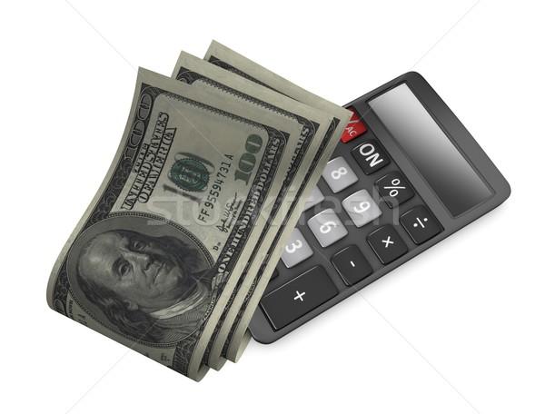 Apertado orçamento 3D imagem dólar Foto stock © OneO2