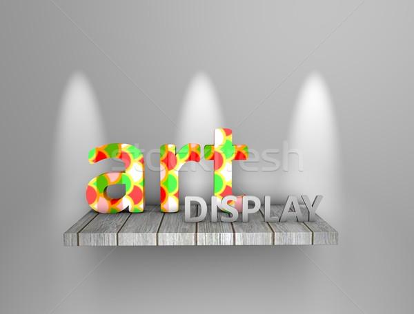 Art display shelf Stock photo © OneO2