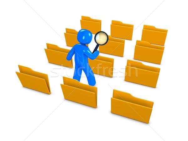 Database ricerca 3D immagine internet dati Foto d'archivio © OneO2