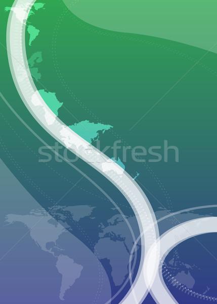 иллюстратор аннотация дизайна Мир карта мира свет Сток-фото © OneO2