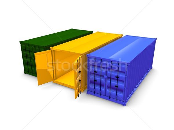 Cargo container Stock photo © OneO2