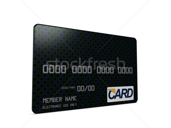 Kart 3D görüntü para banka güvenli Stok fotoğraf © OneO2