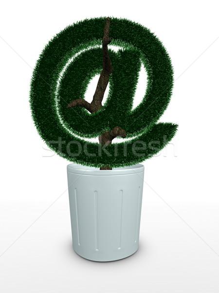 Bonsai 3D görüntü simge çiçek ağaç Stok fotoğraf © OneO2