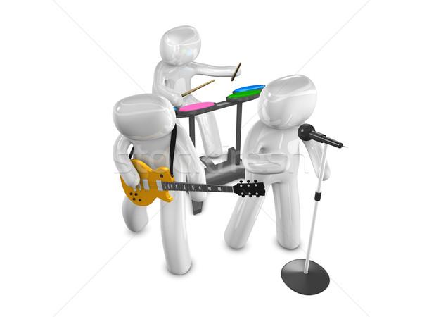 Rock band 3D immagine musicale gruppo Foto d'archivio © OneO2