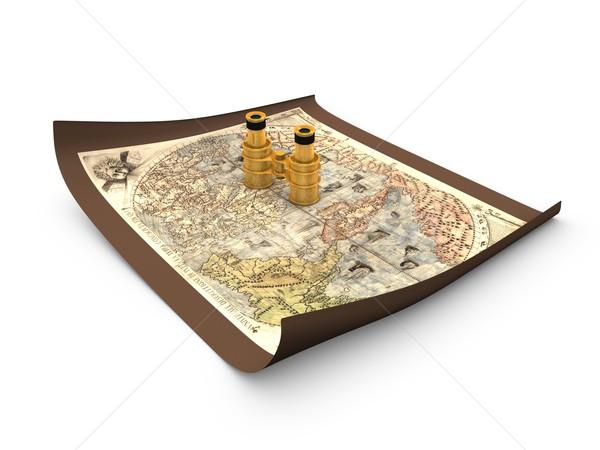Map binocular Stock photo © OneO2