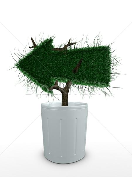 Bonsai 3D afbeelding bloem boom milieu Stockfoto © OneO2