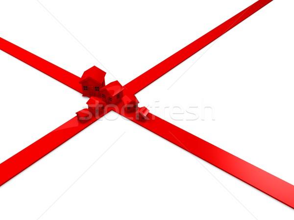 Zálogjog érvényesítése válság 3D renderelt kép grafikus izolált Stock fotó © OneO2