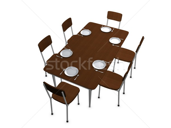 Dining table Stock photo © OneO2