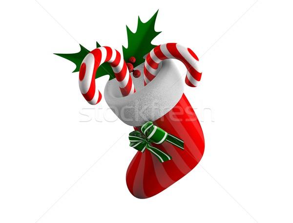Kerstmis sok 3D illustratie opknoping Stockfoto © OneO2
