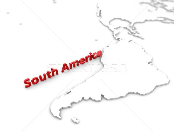 Южной Америке регион карта 3D изображение Сток-фото © OneO2
