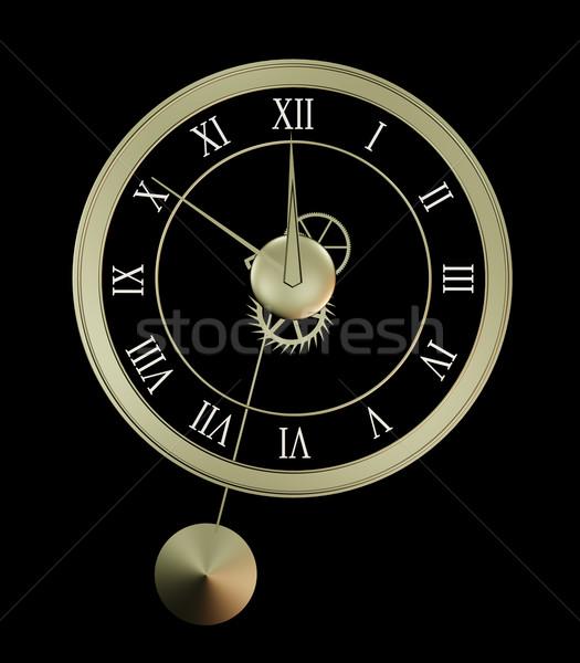 Isolated clock Stock photo © Onyshchenko