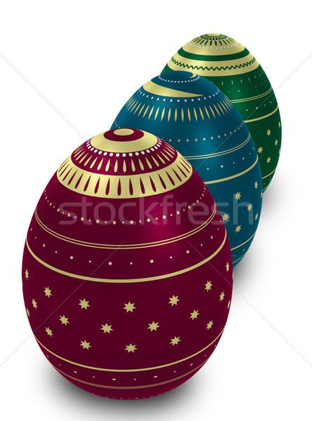 Drie eieren witte Stockfoto © Onyshchenko