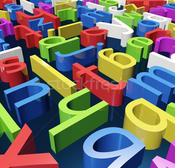 Kleur brieven brief illustratie alfabet Stockfoto © Onyshchenko