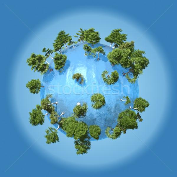 Planeet water klein natuur zee wereld Stockfoto © Onyshchenko