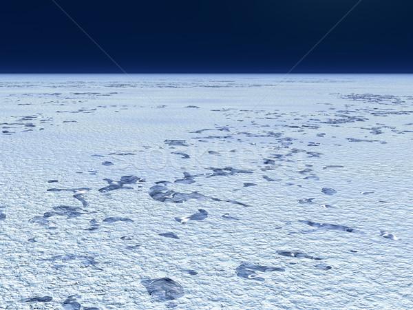 Snow plain Stock photo © Onyshchenko