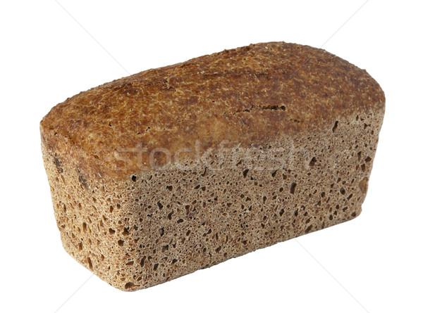 Brood brood geïsoleerd witte tarwe vers Stockfoto © Onyshchenko