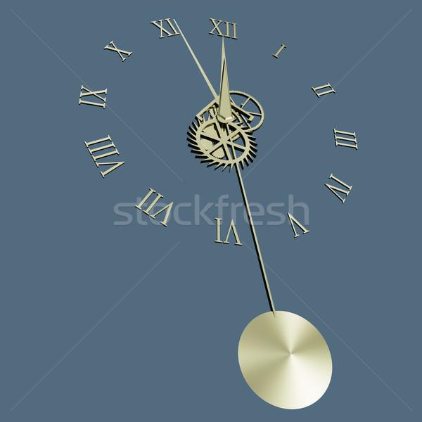 Klok slinger geïsoleerd laag hand versnelling Stockfoto © Onyshchenko