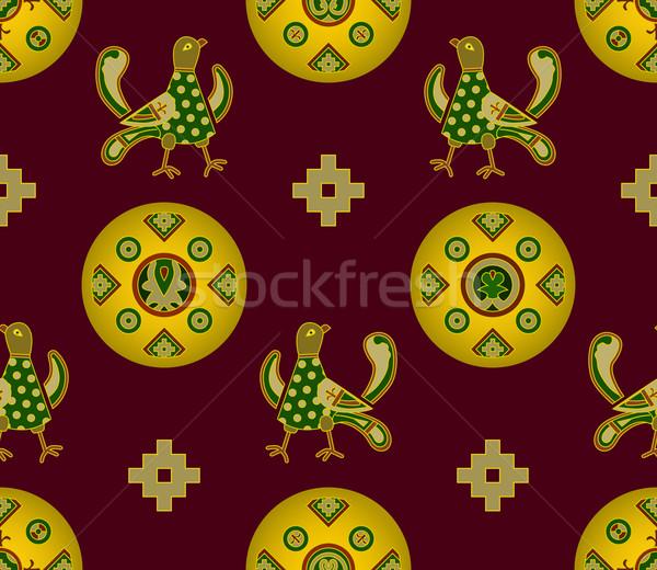 Ornament middeleeuwse communie naadloos typisch Oost Stockfoto © Onyshchenko