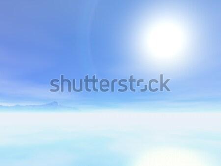Sun over the sea Stock photo © Onyshchenko