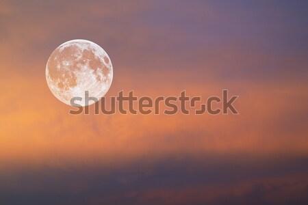 Maan Rood hemel vol Stockfoto © Onyshchenko