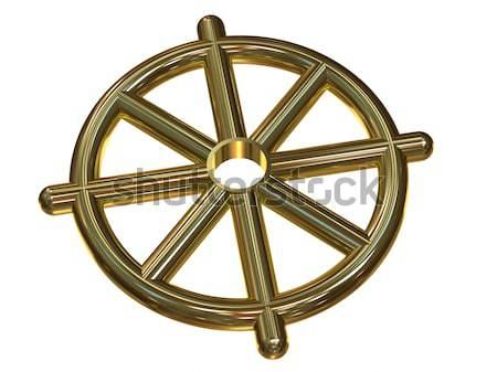 Buddhist Wheel Symbol (Dharmachakra)  Stock photo © Onyshchenko