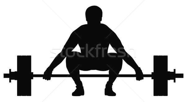 Weight lifter athlete Stock photo © oorka
