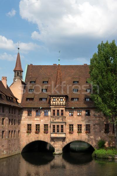 Kilátás város Németország tájkép kastély építészet Stock fotó © oorka