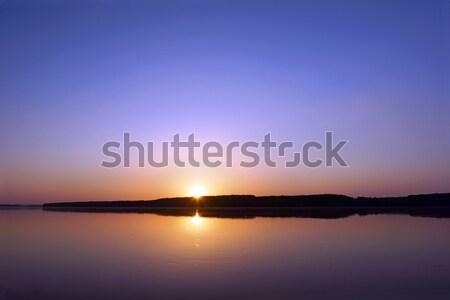 Дунай реке закат воды потока границе Сток-фото © oorka