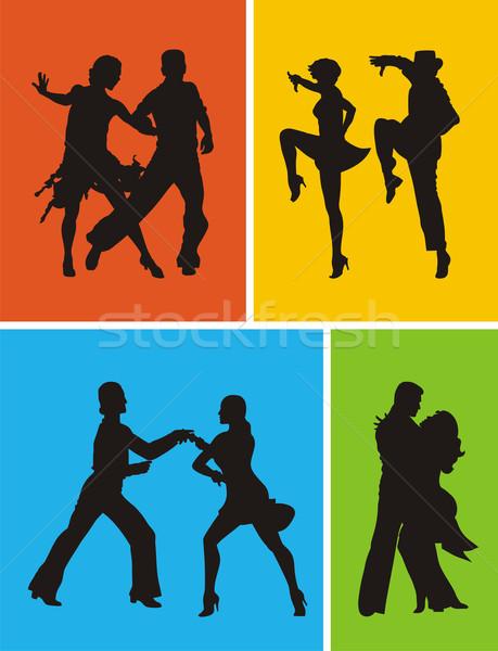 танцоры аннотация американский человека пару Swing Сток-фото © oorka