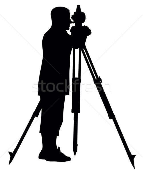 Land surveyor Stock photo © oorka