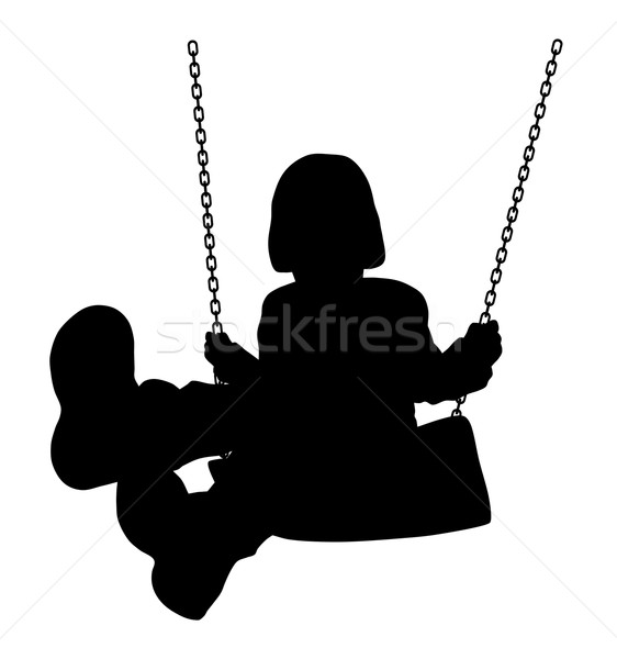 Swinging kid Stock photo © oorka
