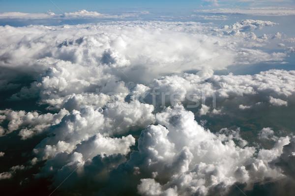 Chmury pływające płaszczyzny niebo Chmura nieba Zdjęcia stock © oorka
