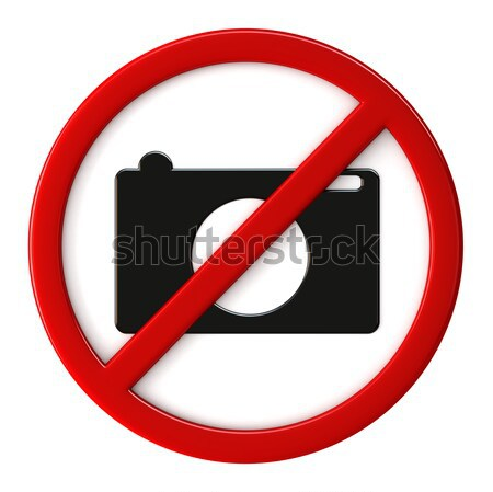 Cameras not allowed Stock photo © oorka