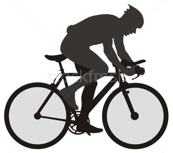 Bicyclist Stock photo © oorka