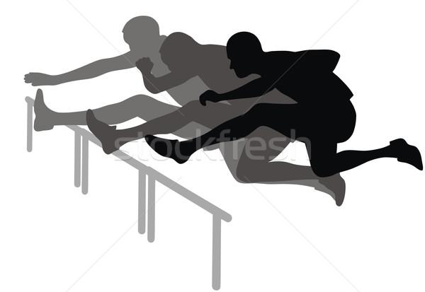Hurdle race Stock photo © oorka