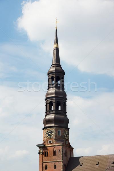 Templom Hamburg Németország épületek építészet Európa Stock fotó © oorka