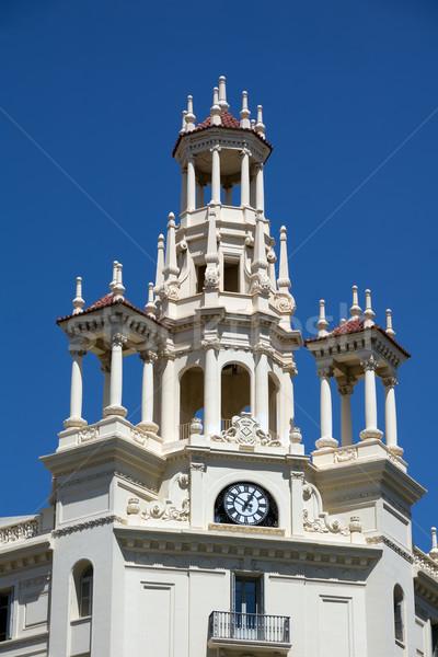 Stockfoto: Algemeen · schatkist · Valencia · hemel · gebouw