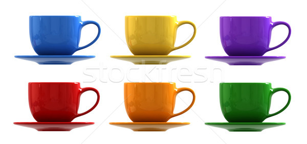 Cups and saucers Stock photo © oorka