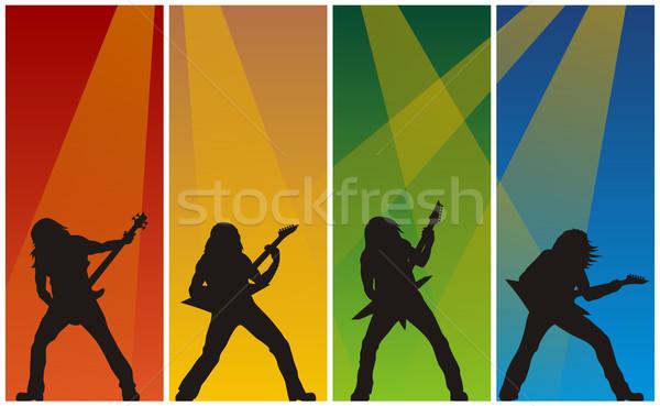 Kő zenészek absztrakt illusztráció fém koncert Stock fotó © oorka