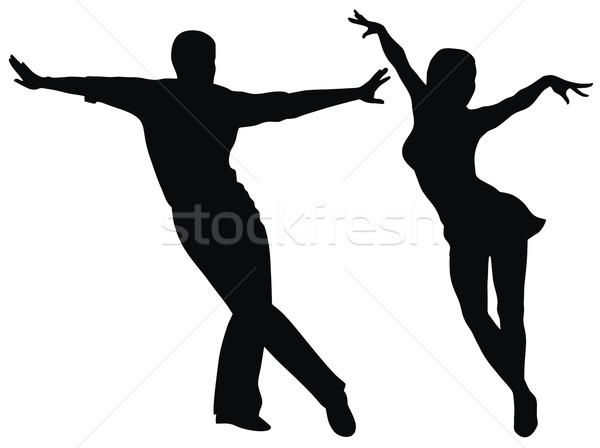 Táncosok absztrakt amerikai férfi pár hinta Stock fotó © oorka