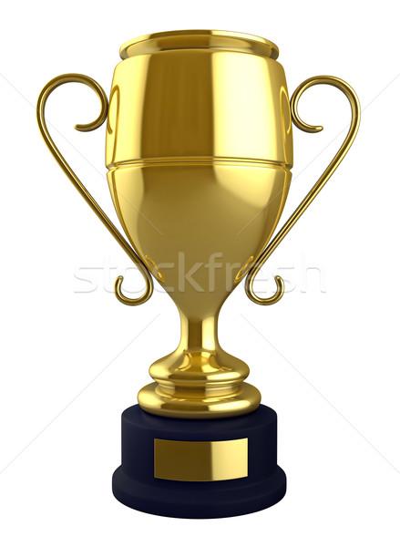 Champion Tasse 3d render isoliert weiß Erfolg Stock foto © oorka