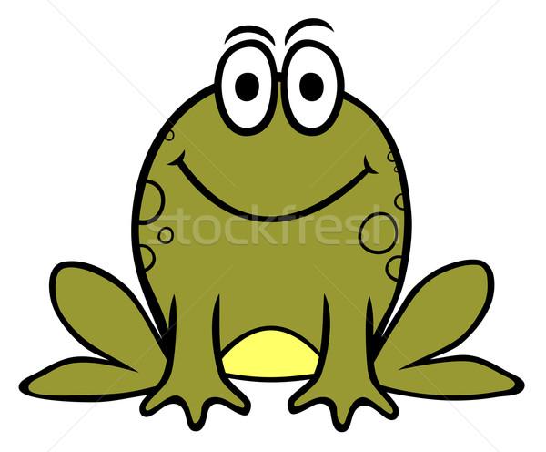 Béka szín zöld rajz stílus gyerek Stock fotó © oorka