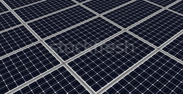Napelemek közelkép render zöld elektromos modern Stock fotó © oorka