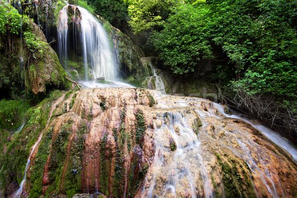 Vízesések Bulgária vízesés víz zöld vízesés Stock fotó © oorka