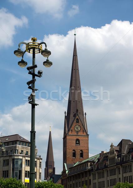 ハンブルク 表示 市 都市 景観 町 ストックフォト © oorka