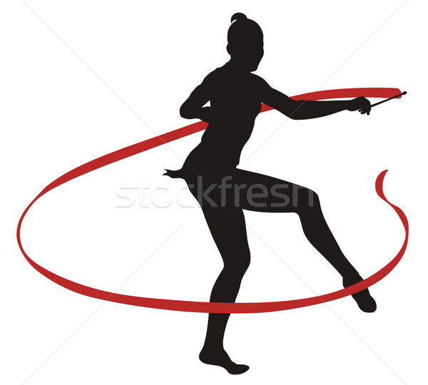 Rhythmic gymnastic Stock photo © oorka