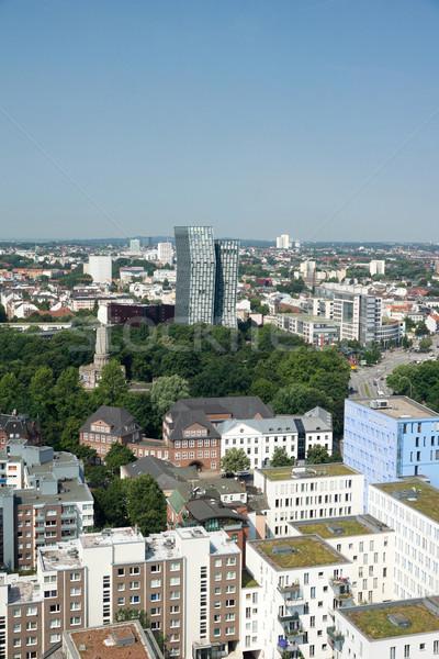 Hamburgo vista ciudad urbanas paisaje urbano ciudad Foto stock © oorka