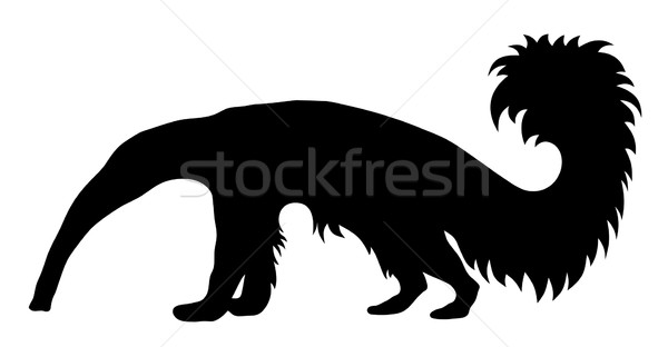 Reus silhouet mier dier illustratie zoogdier Stockfoto © oorka