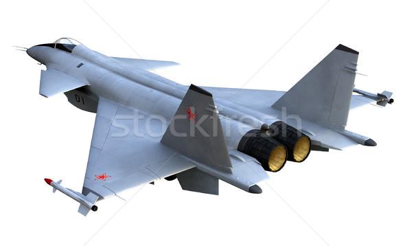 Romboló 3d render orosz repülőgép vadászrepülő háttér Stock fotó © oorka